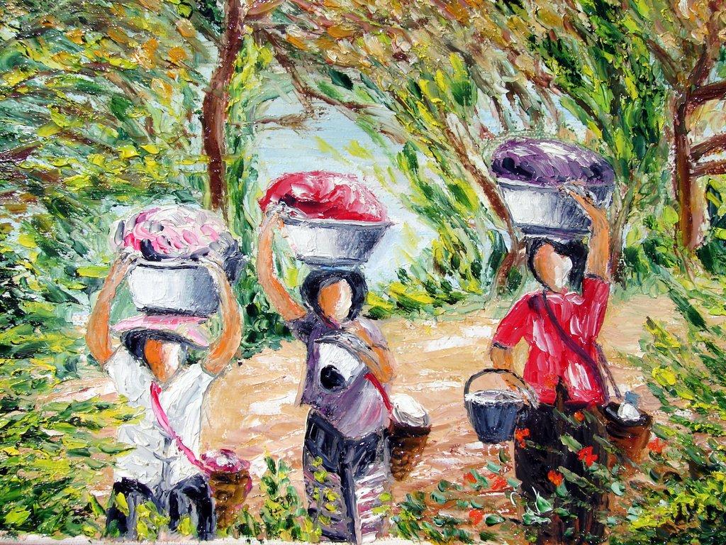 les lavandières du lac Pone / Birmanie
