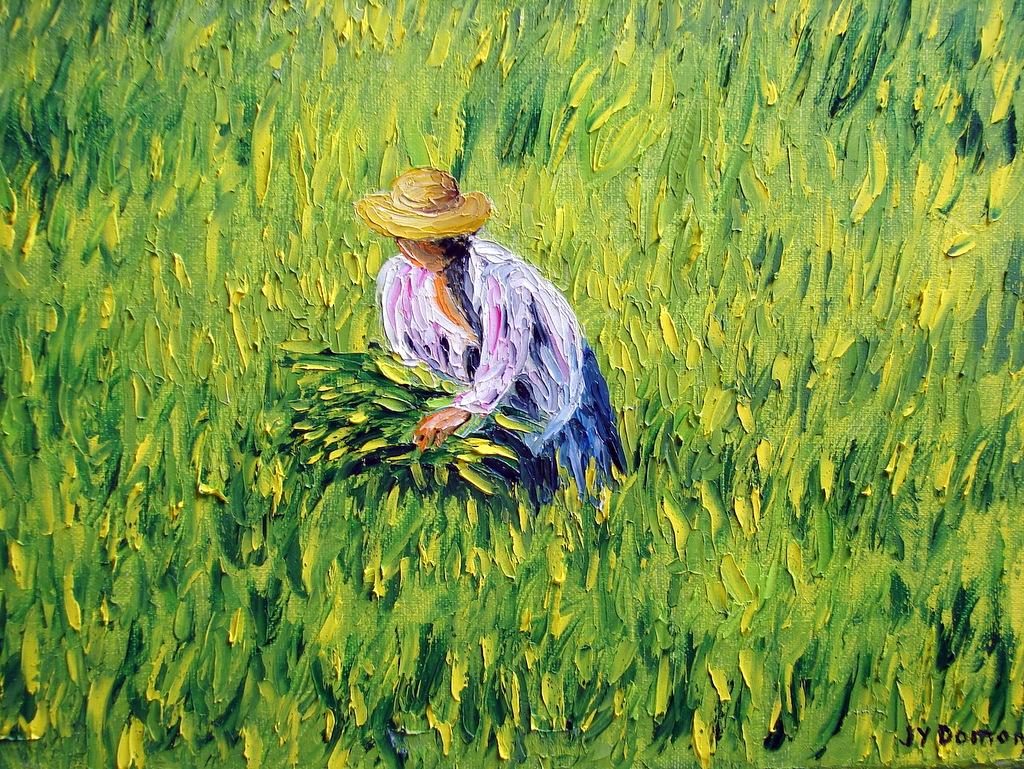 paysanne dans les riziéres / Birmanie