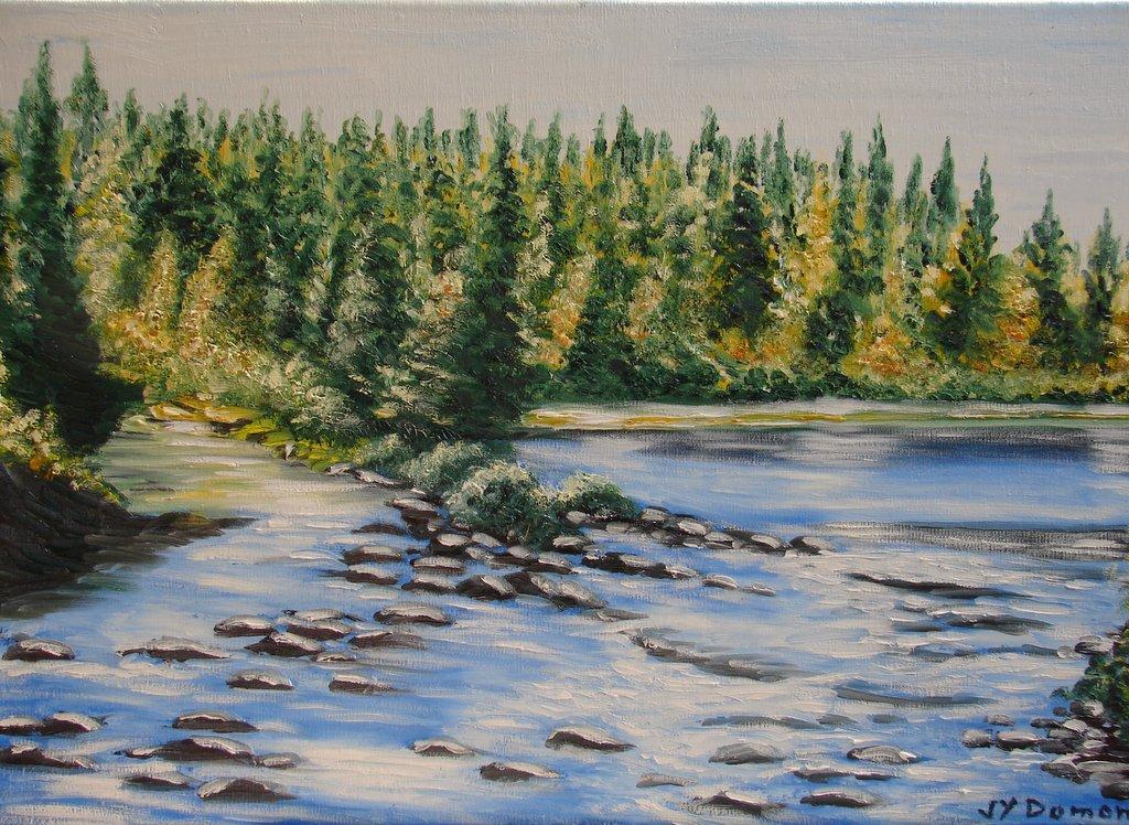 Paysage d'automne aux Laurentines / Canada