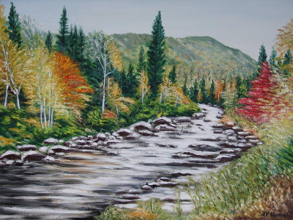 Paysage d'automne dans le Saguenay / Canada