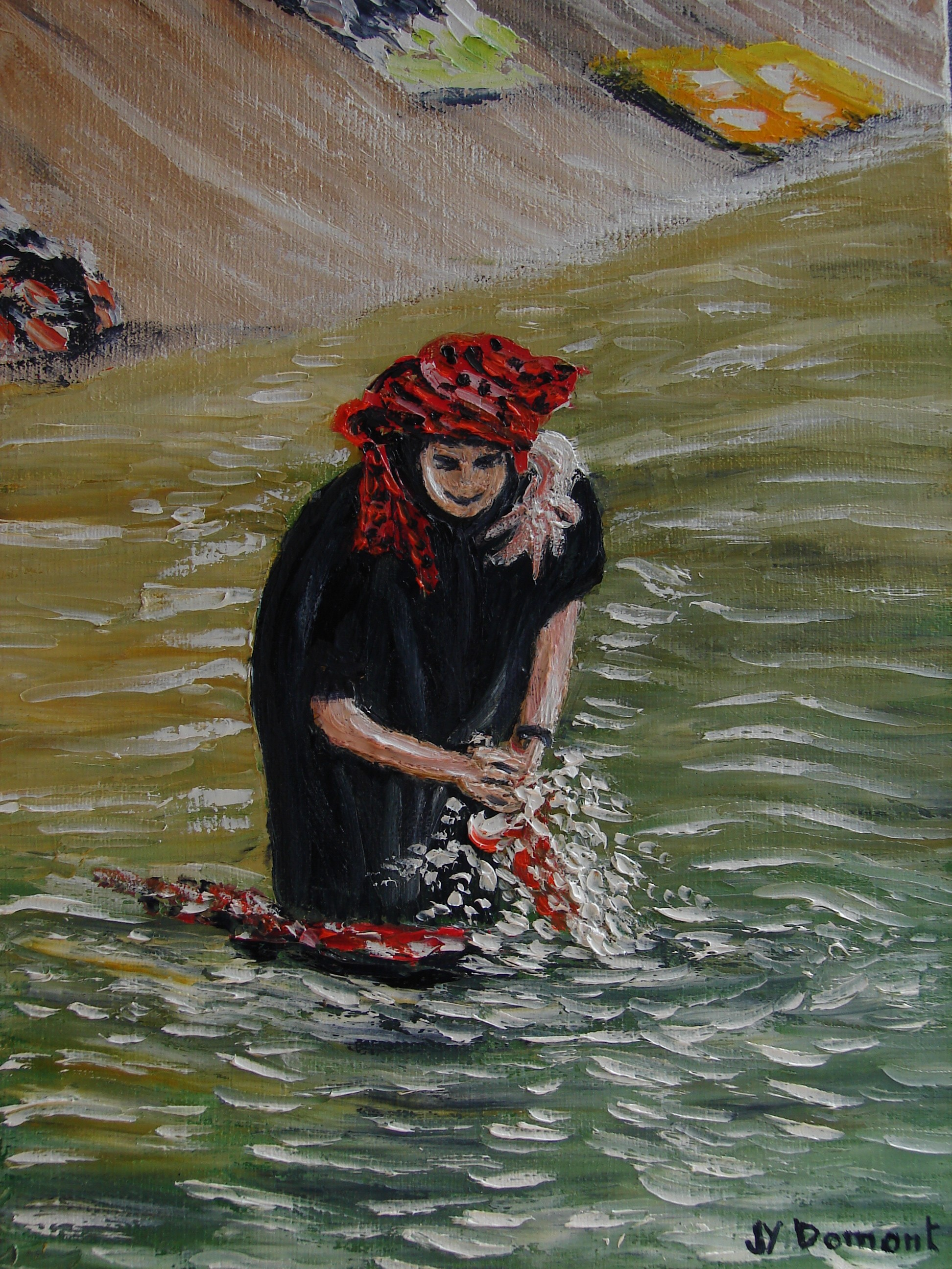 La lessive de la femme Pa-O / Birmanie