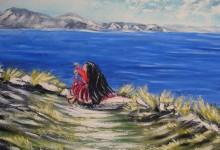 La fileuse de l'île de Taquile ( Pérou )