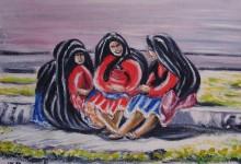 Les femmes de l'île de Taquile ( Pérou )