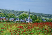 Bures-en-Bray : le champ de coquelicots