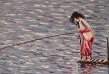 La pêcheuse du lac Bratan ( Bali )