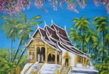 Temple bouddhiste à Luang Pragang ( Laos )