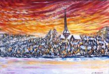 Bures : soir d'hiver au village