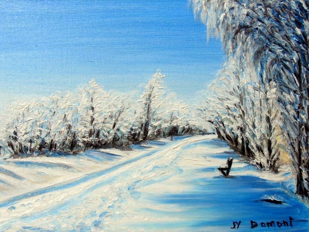 hiver sur l'Avenue Verte / Bures-en-Bray