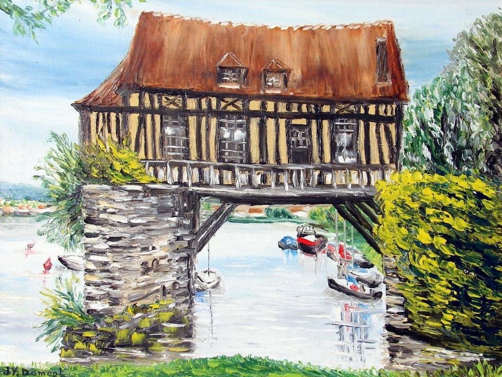 Vernon :  le vieux moulin sur la Seine / Normandie