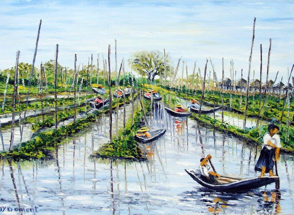 Les jardins flottants du lac inle birmanie jean yves for Le jardin domont