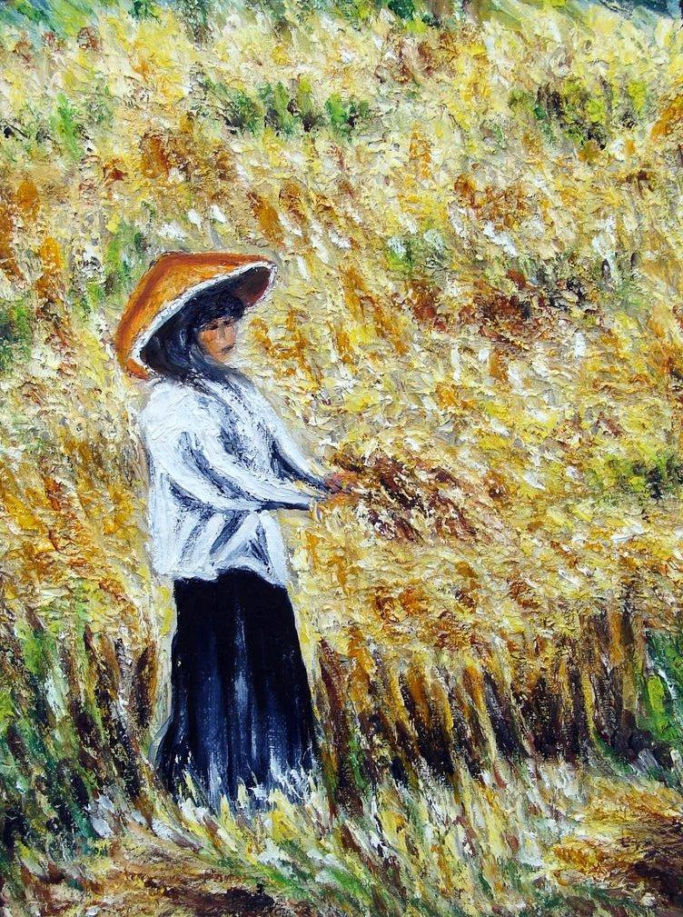 la récolte du blé / Birmanie