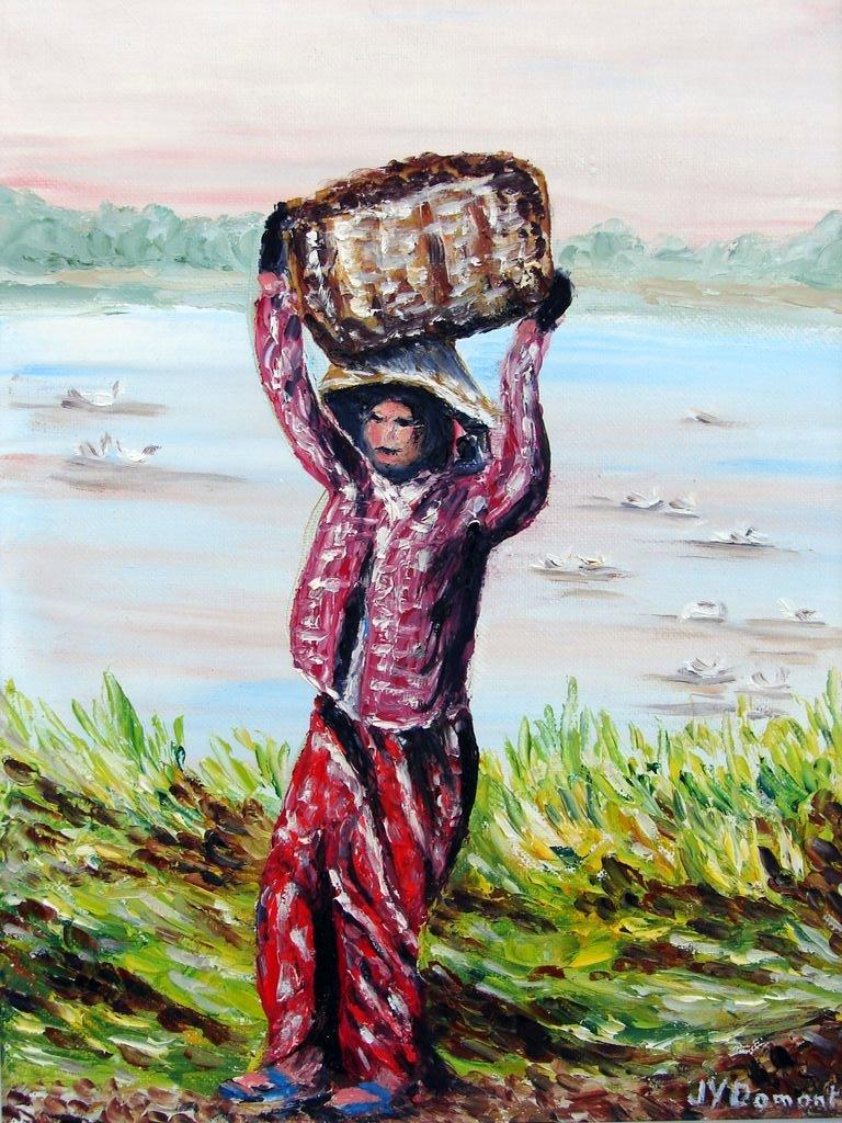 la récolte des arachides / Birmanie