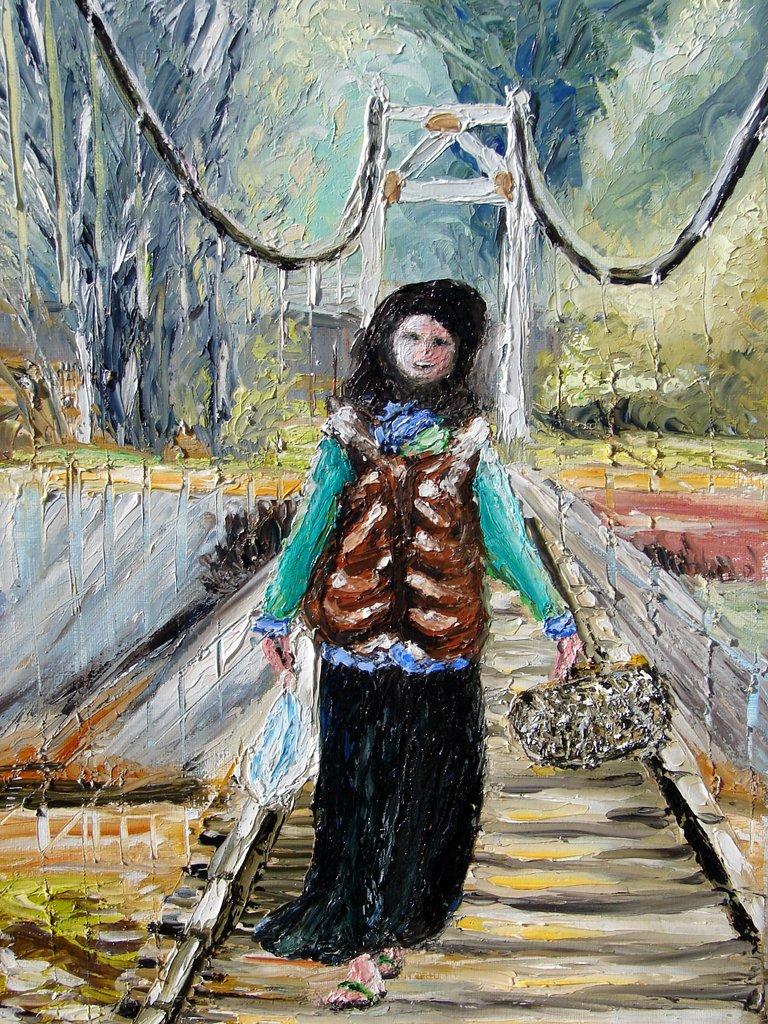 la paysanne sur le pont / Vietnam