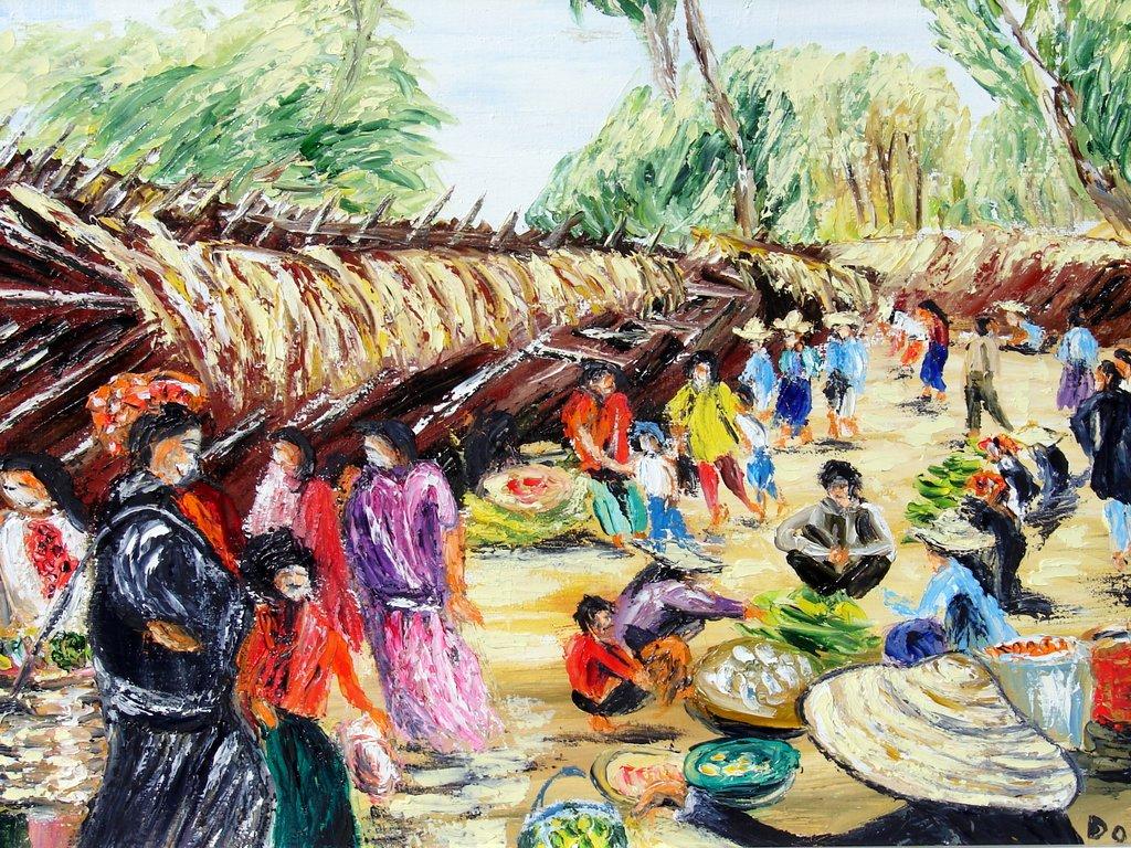 le marché d'Indein / Birmanie