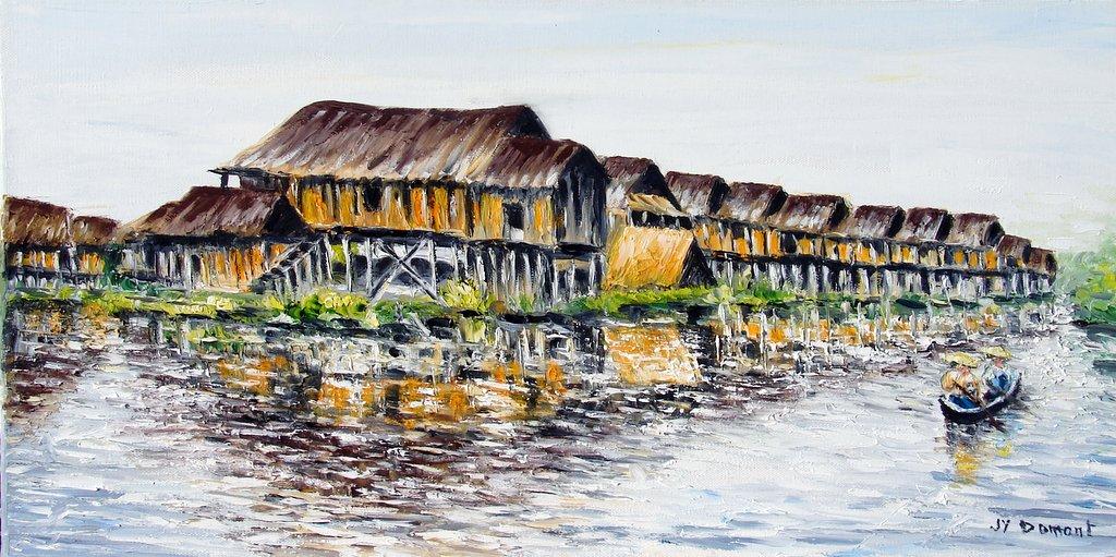 le village lacustre du lac Inle / Birmanie