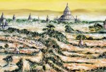 Coucher de soleil sur les temples de Bagan ( Birmanie )