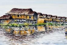Le village lacustre du lac Inle ( Birmanie )