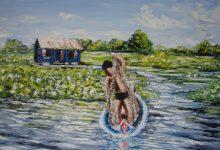 Le pêcheur du lac Tonié Sap ( Cambodge )