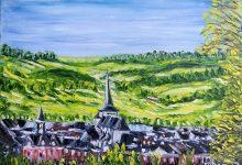 Neufchâtel :  le village depuis la Vieille Côte